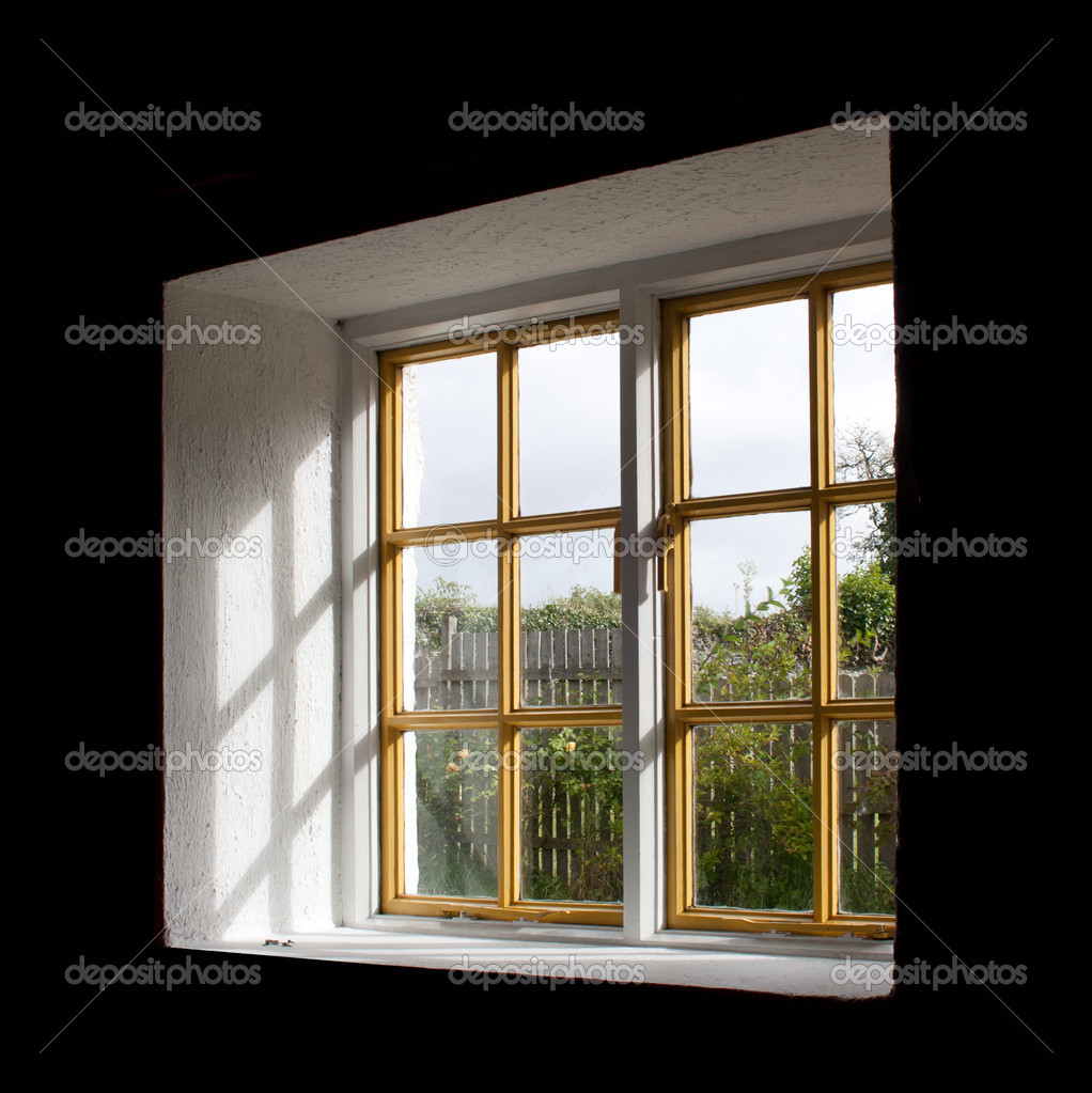 Close up shot of a window with shades — Stock Photo #10168373
