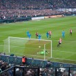 ROTTERDAM - JANUARY 29: John Guidetti scores a penalty kick against Ajax - Stock Photo