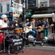 El Hombre Jokes Playing Grafton Street - Stock Photo