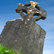 Celtic Grave Stone against Blue Sky — Stock Photo