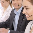 Group portrait of customer service representatives — Stock Photo #10249037
