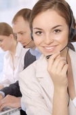 Group portrait of customer service representatives — Stock Photo