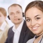 Group portrait of successful customer service representatives — Stock Photo #10622325