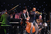 LVIL, UKRAINE - June 3: Wynton Marsalis and Igor Butman Quartet — Stock fotografie