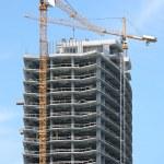 Highrise Building Construction Site — Stock Photo