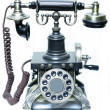 Vintage phone on a white background — Stock Photo