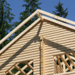 Beginnings of new roof on house — Stock Photo #9711046