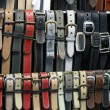 Belts for sale — Stock Photo