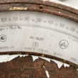 Obsolete rusted scales — Foto Stock
