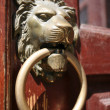Lion head door knocker — Stock Photo #9711229