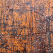 Brown weathered timber wall with raindrops — Stock Photo