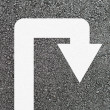 U-turn arrow on new asphalt — Stock Photo #9711418