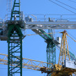 Cranes on construction site — Stock Photo