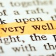"Highlighter and words ""very well"" — Stockfoto #9711733"