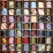Shelf with different color ties — Stock Photo #9711828
