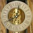 Close up of antique clock face (soft focus) — Stock Photo