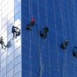 Six workers washing windows — Stock Photo #9712292