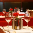 Restaurant table setting — Stockfoto