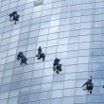 Window washers — Stock Photo