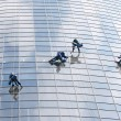 Stock Photo: Six window washers