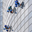 Stock Photo: Three window washers