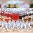 Glasses of alcohol beverages — Stock Photo #9712950