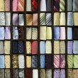 Multicolored male neck ties in a fashion store — Stock Photo #9712960