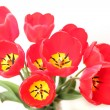 Bouquet of red tulips isolated on white background — Stock Photo #9712962