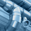 Stock Photo: System of ventilating pipes