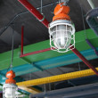 Stock Photo: Industrial lamp and HVAC system