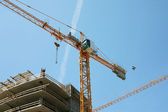 Construction site with two cranes — Stock Photo