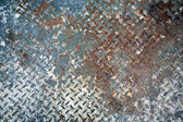 Worn painted metal plate — Stock Photo