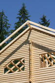Beginnings of a new roof on a house — Stockfoto