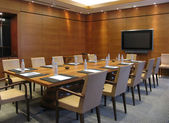 Table in a Conference Room — Foto Stock