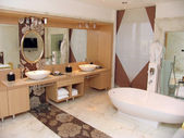 Modern bathroom in a hotel — Stock Photo