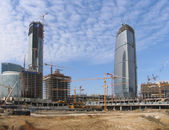 Office centre construction site — Stock Photo