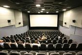 Tanınmayan bir sinema salonunda — Stok fotoğraf