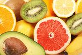 Fresh fruits background — Stock Photo