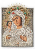 Madonna (Mary) of Jerusalem and child (Jesus Christ) icon — Stock Photo