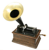 Vintage phonograph isolated on white background — Foto Stock