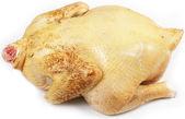 Raw chicken on white background — Stock Photo
