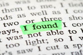 "Highlighter and words ""i found"" — Foto Stock"