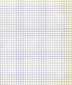 Blank sheet of a paper with a violet grid — Stock Photo