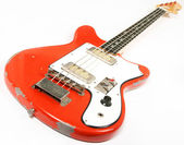 Vintage bass guitar isolated on white background — Foto de Stock