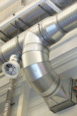 Ventilation pipes of an air condition — Stock Photo