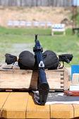 Moderna arma de israel en el campo de tiro — Foto de Stock