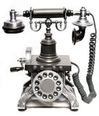Vintage phone isolated — Stock Photo