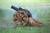 Cannon fires — Stock Photo