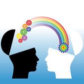 Mutual understanding conceptual illustration — Stock Photo