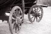Old carriage closeup — Stock Photo